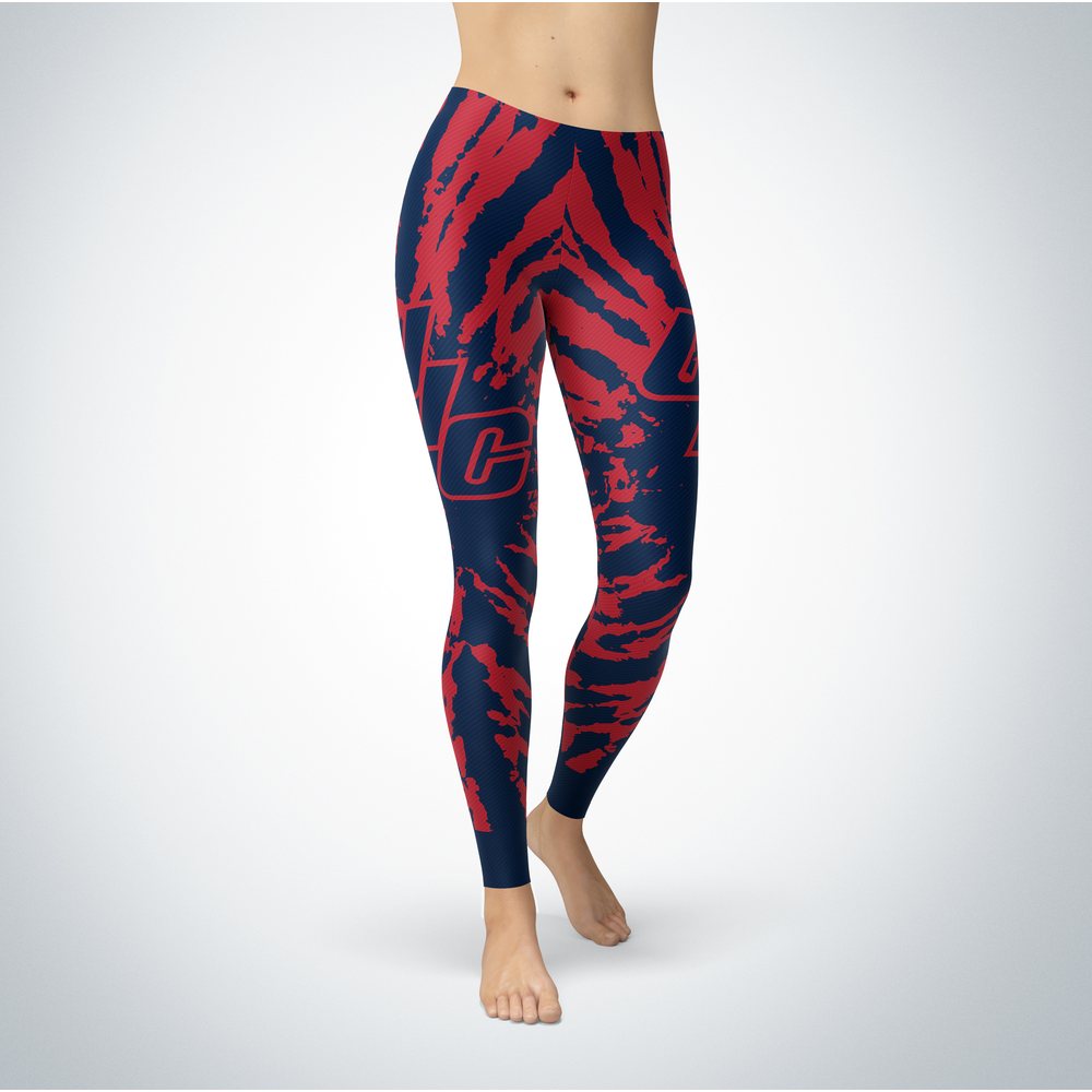 Tie Dye Design - UIC Flames Leggings Front picture
