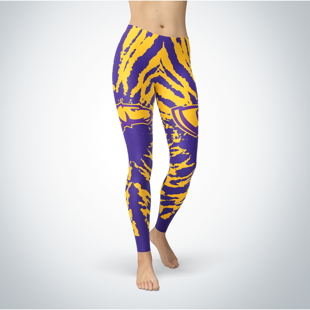 Tie Dye Design - Wisconsin-Stevens Point Pointers Leggings Front picture