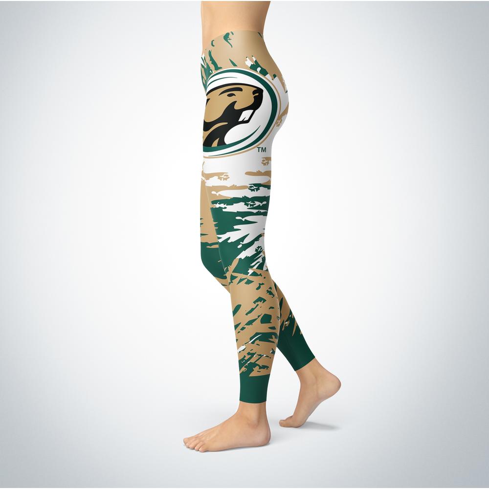 Watercolor Design - Bemidji State Beavers Leggings Back picture