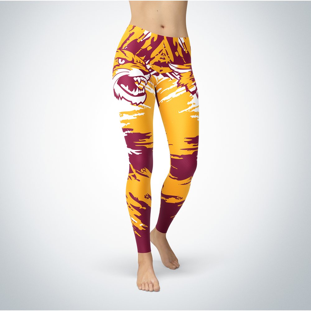 Watercolor Design - Bethune-Cookman Wildcats Leggings Front picture
