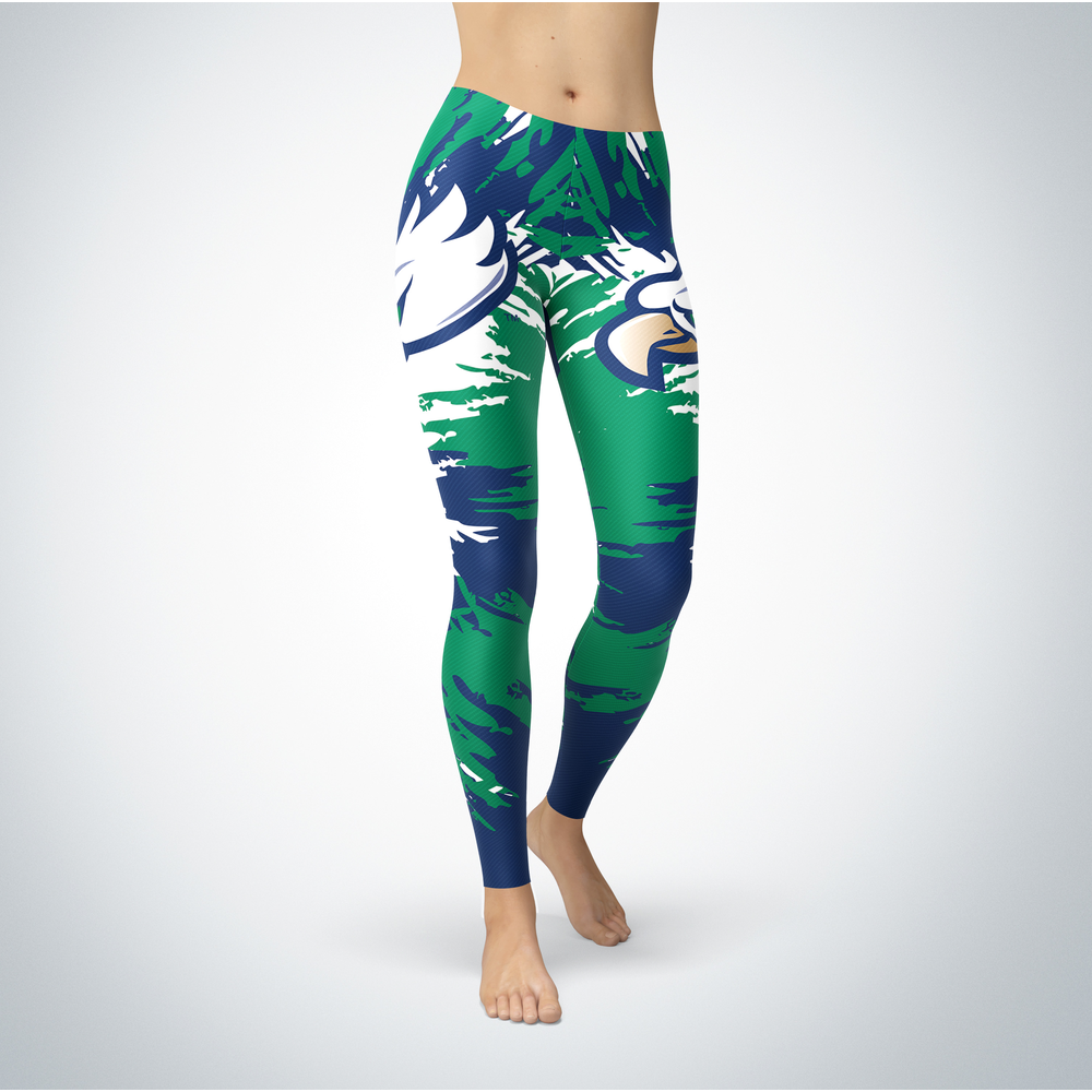 Watercolor Design - Florida Gulf Coast Eagles Leggings Front picture