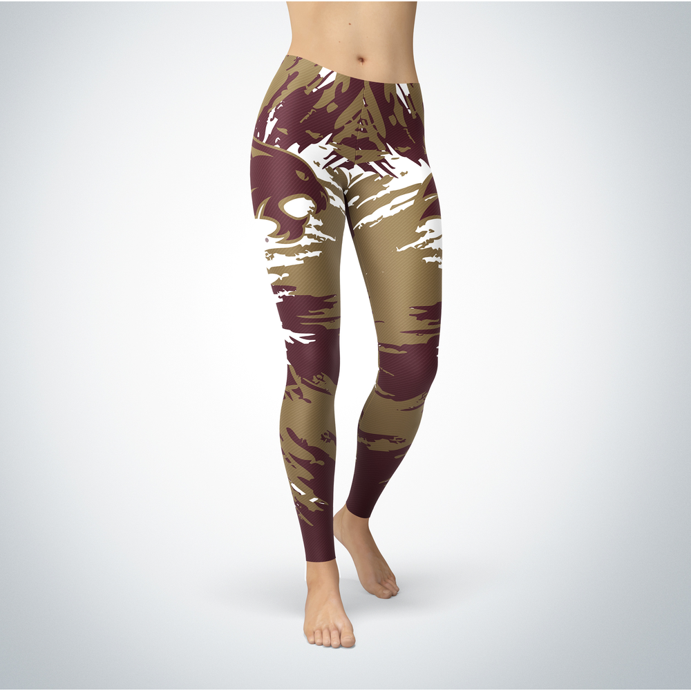 Watercolor Design - Texas State University Leggings Front picture