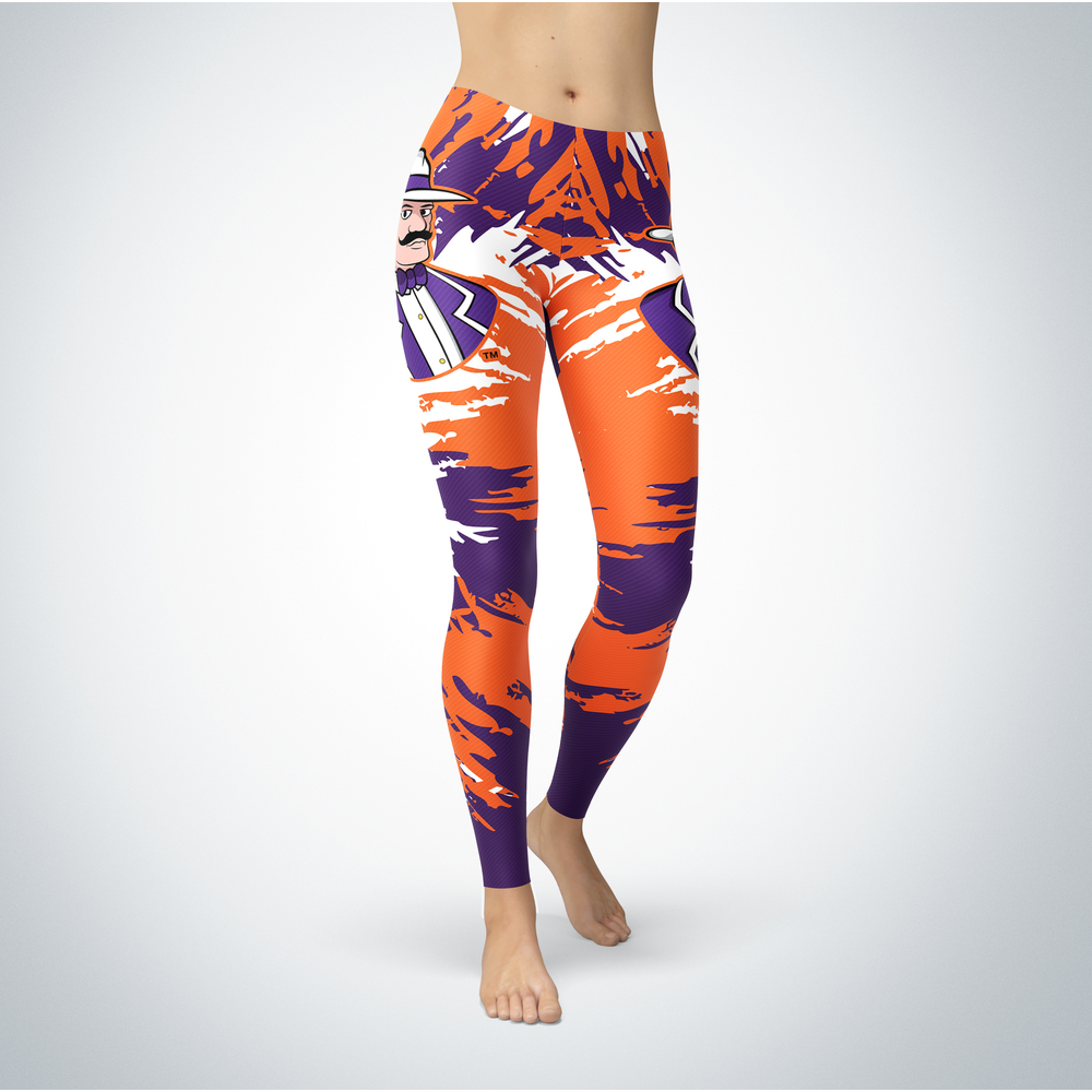 Watercolor Design - University of Evansville Leggings Front picture