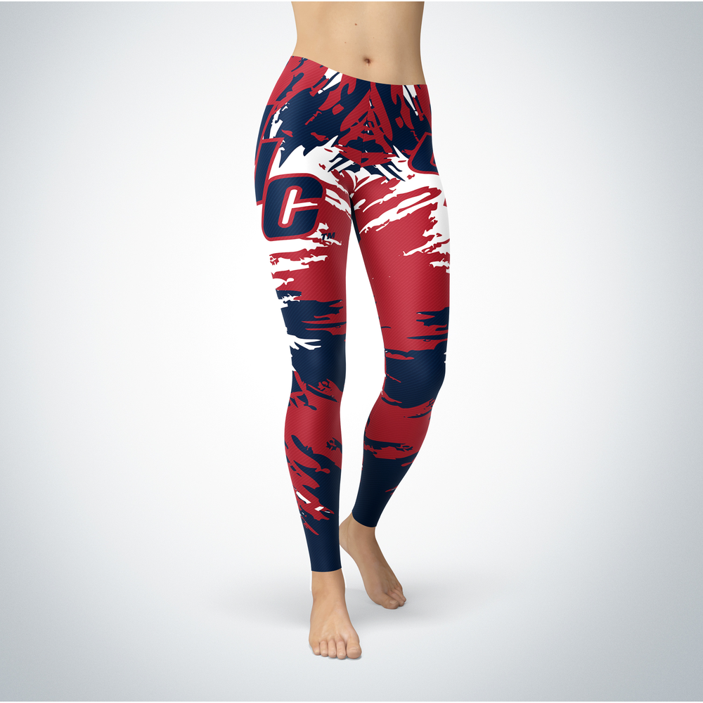 Watercolor Design - UIC Flames Leggings Front picture