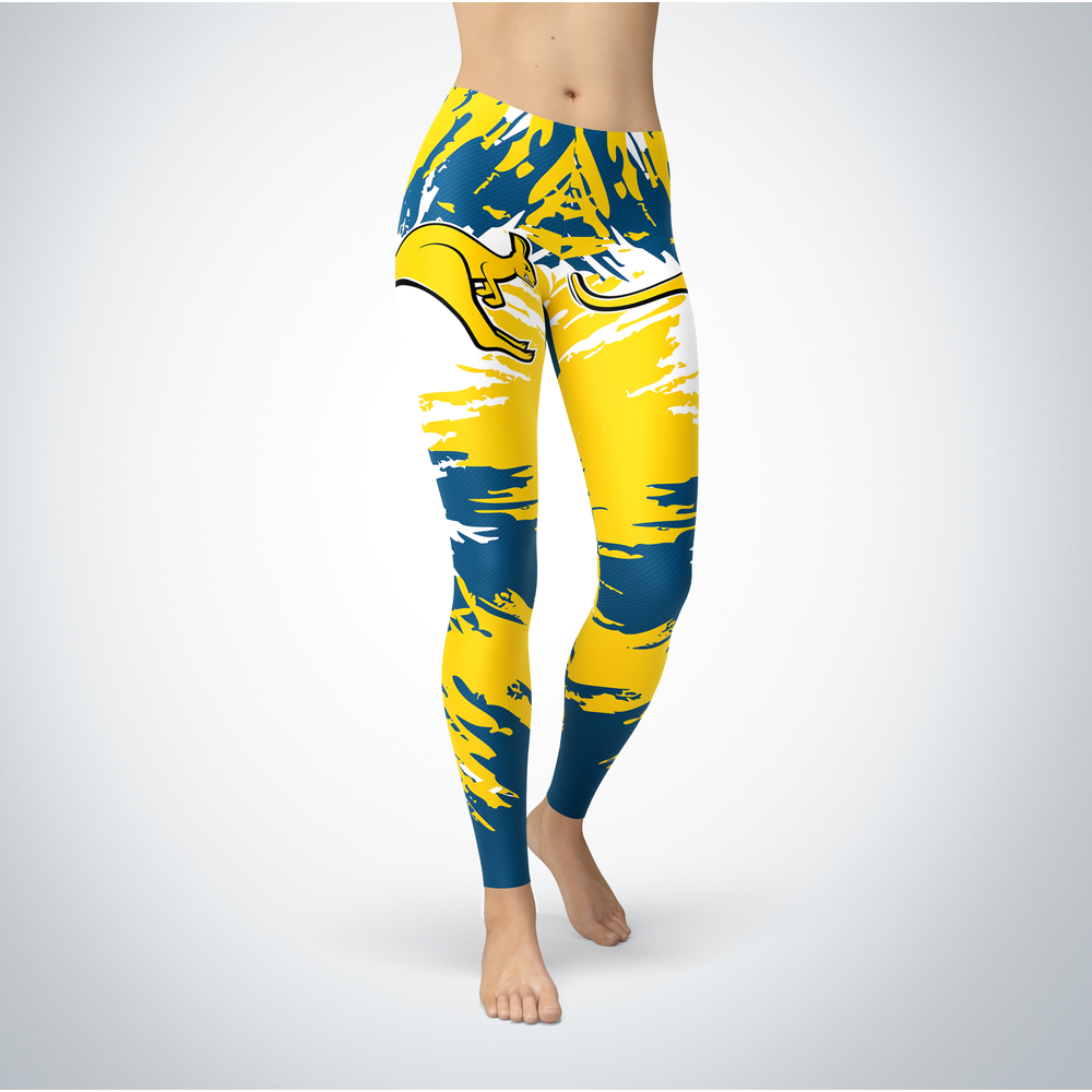 Watercolor Design - UMKC Kangaroos Leggings Front picture