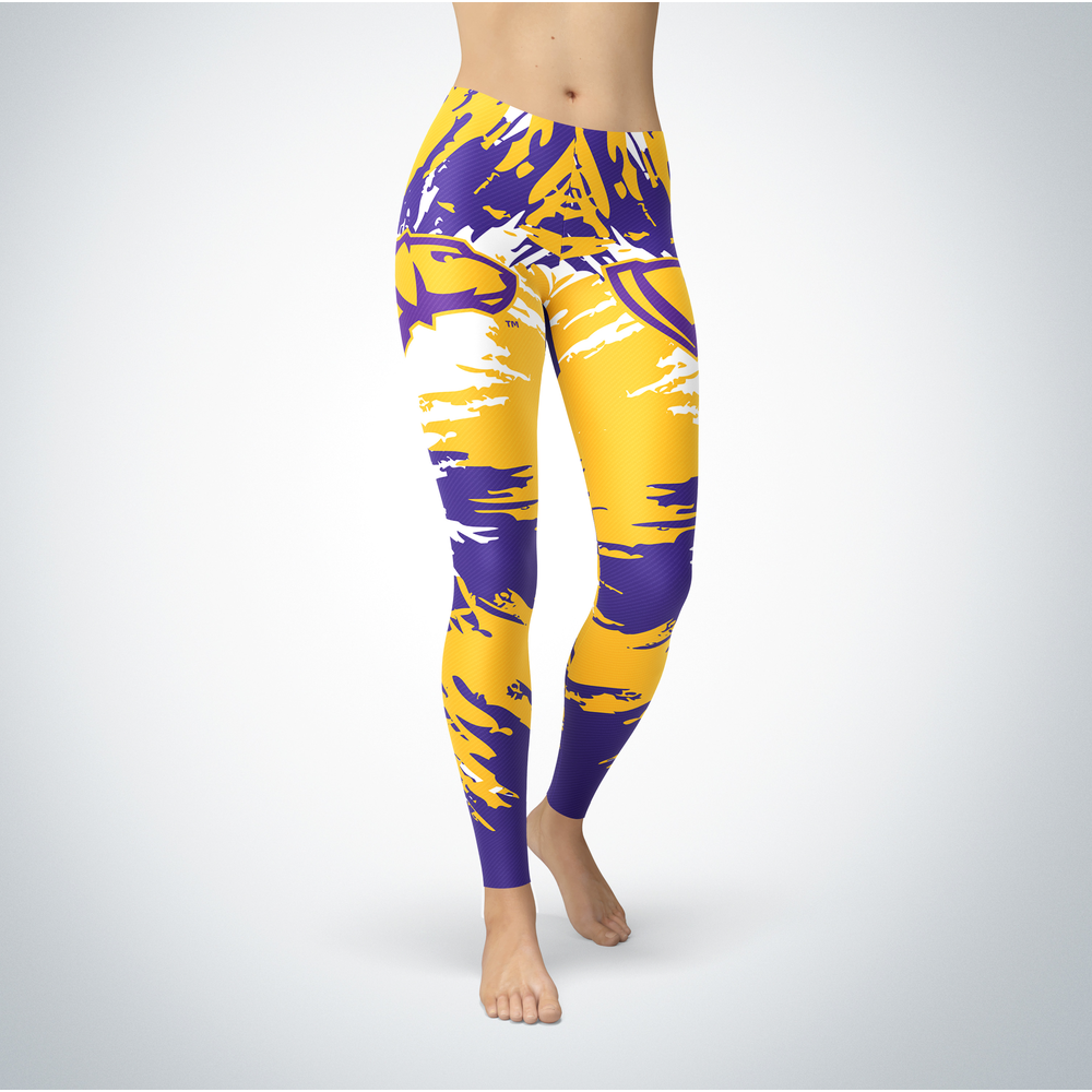 Watercolor Design - Wisconsin-Stevens Point Pointers Leggings Front picture