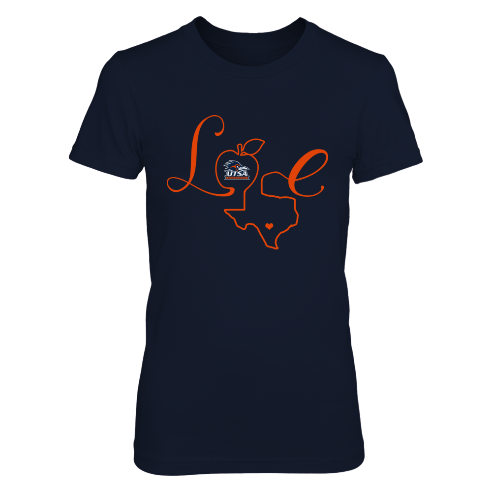 UTSA Roadrunners - Love Apple And State Outline Front picture