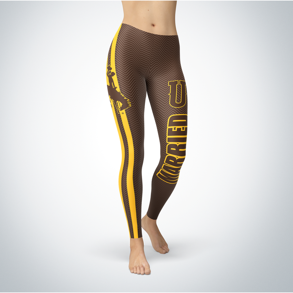 Married Design - Wyoming Cowboys Leggings Front picture