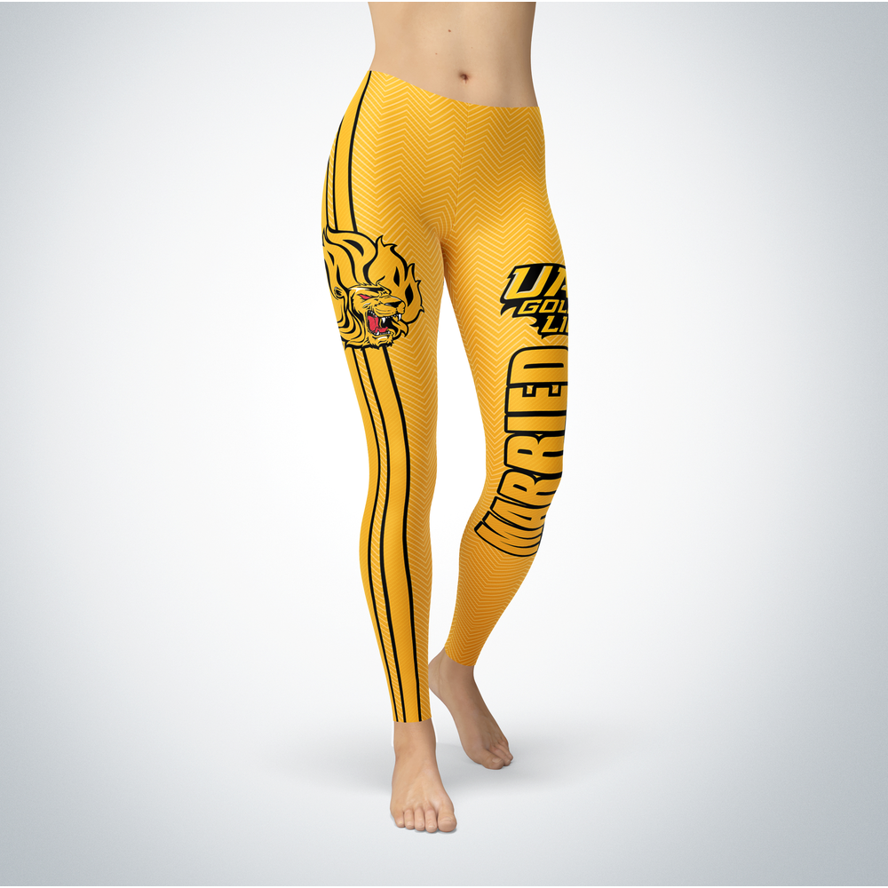 Married Design - Arkansas Pine Bluff Golden Lions Leggings Front picture