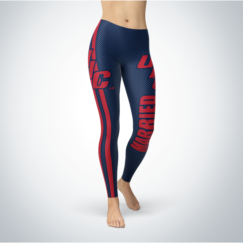 Married Design - UIC Flames Leggings Front picture
