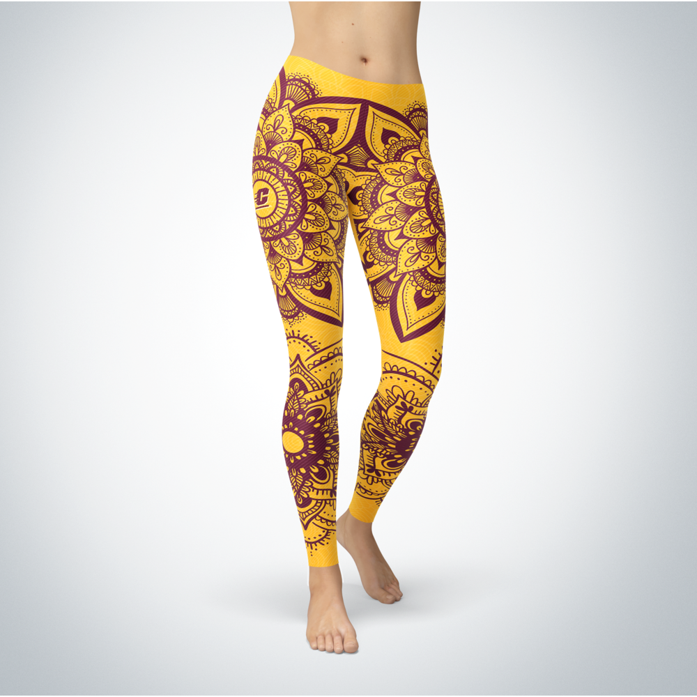 Mandala - Central Michigan Chippewas Leggings Front picture