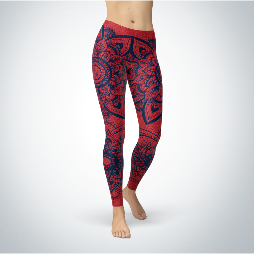 Mandala - UIC Flames Leggings Front picture