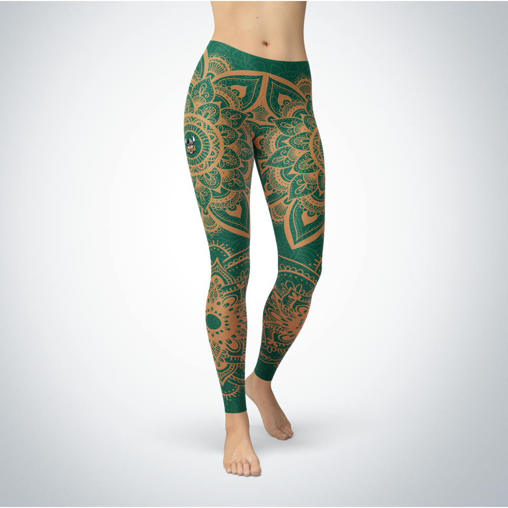 Mandala - Cleveland State Vikings Leggings Front picture