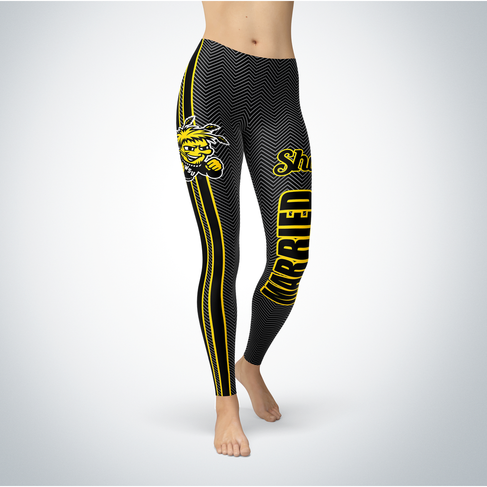 Married Design - Wichita State Shockers Leggings Front picture