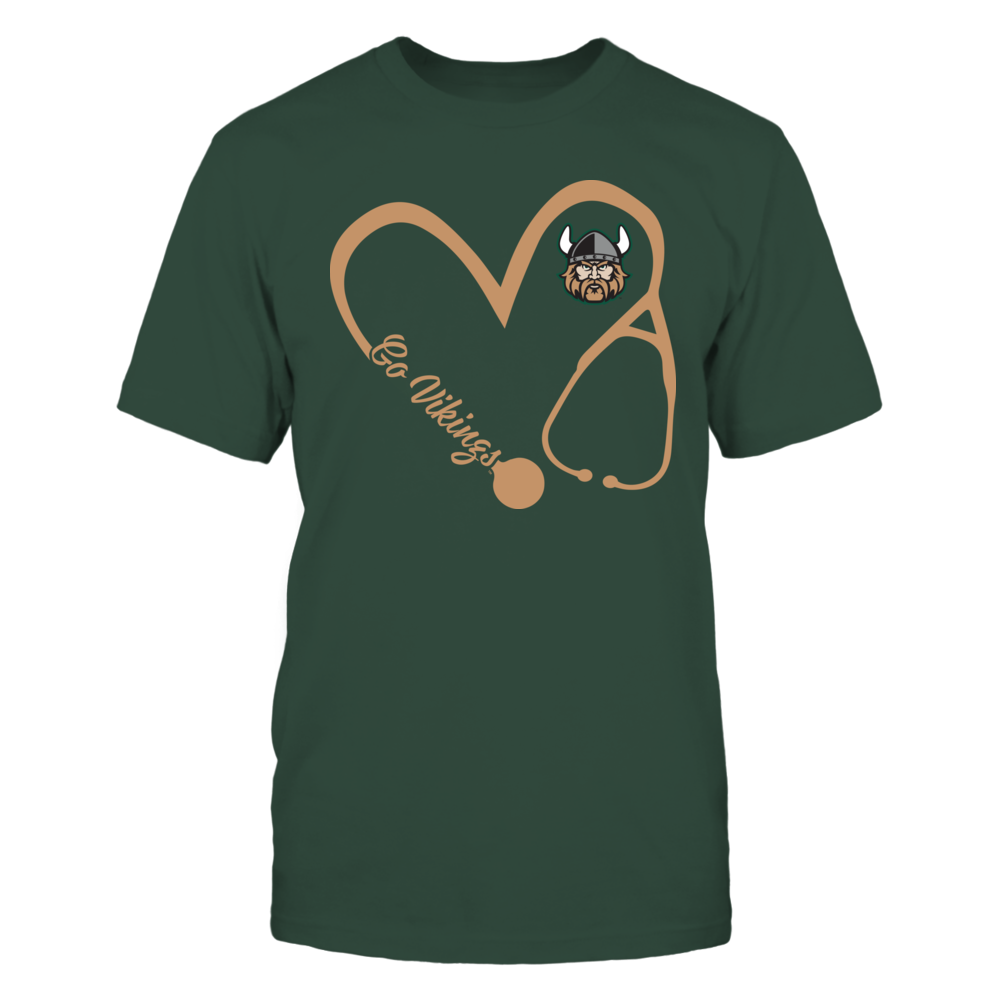 Cleveland State Vikings - Heart 3/4 - Nurse Front picture