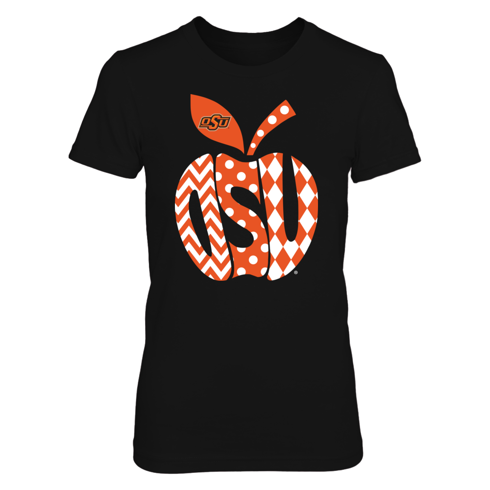 Oklahoma State Cowboys - Patterned Letters Inside Apple Front picture