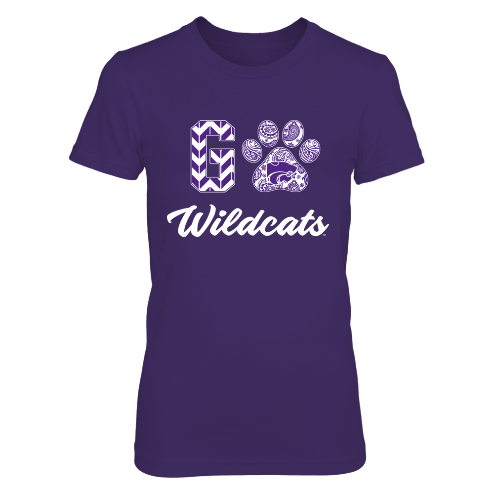 Kansas State Wildcats - Patterned Letters - Slogan - Paw Front picture