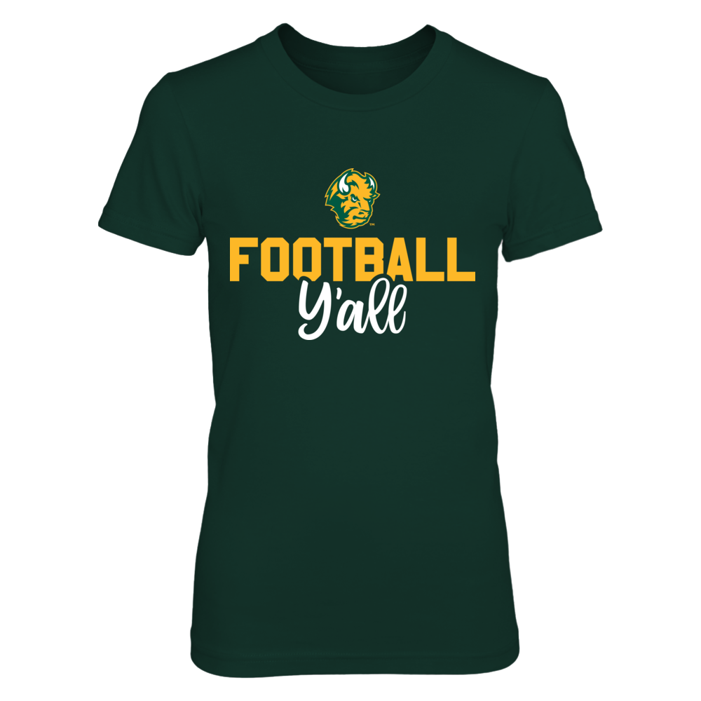 North Dakota State Bison Football Y'all T-Shirt | Tank Front picture