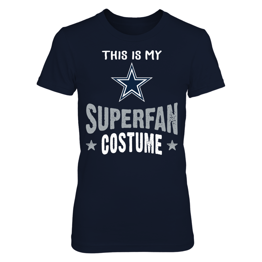 Halloween Dallas Cowboys  SuperFan Costume T-Shirt | Tank Front picture