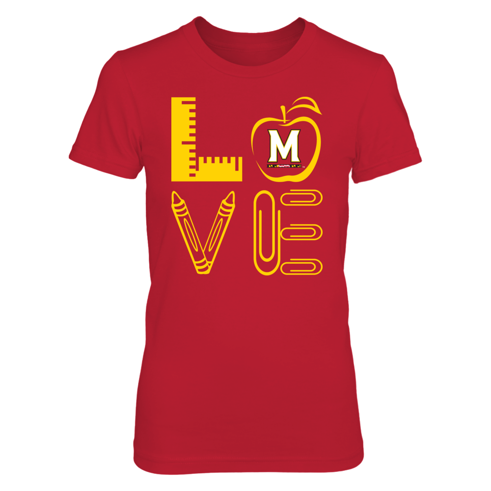 Maryland Terrapins - Stacked Love - Teacher Things - IF-IC13-DS33 Front picture