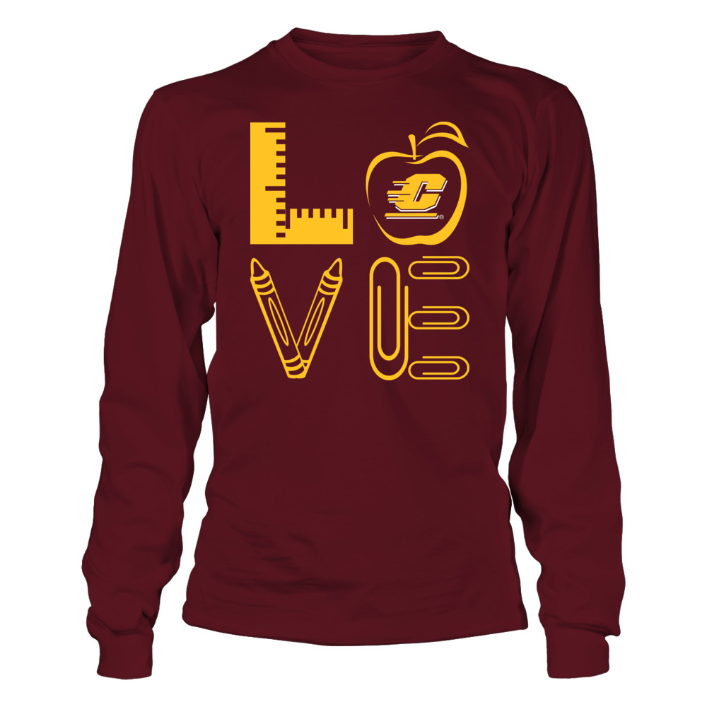 Central Michigan Chippewas - Stacked Love - Teacher Things - IF-IC13-DS84 Front picture