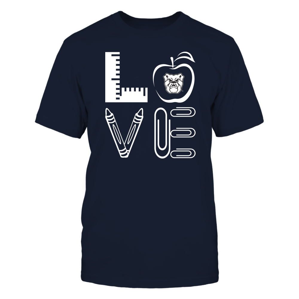 Butler Bulldogs - Stacked Love - Teacher Things - IF-IC13-DS45 Front picture