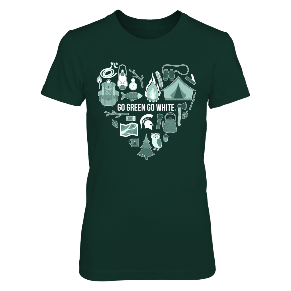Michigan State Spartans - Heart Of Camping Things Front picture
