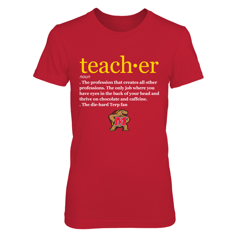 Maryland Terrapins - Teacher Definition Front picture