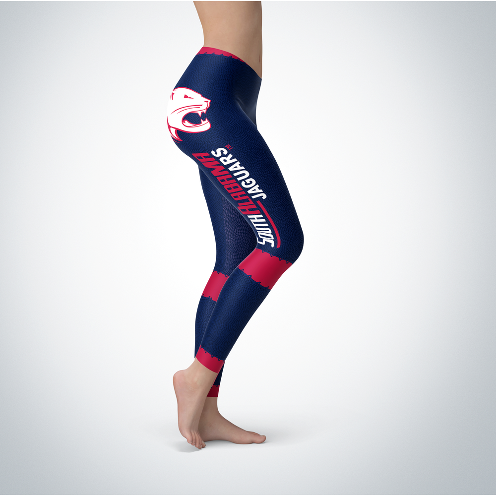 Football Design South Alabama Jaguars Leggings Front picture