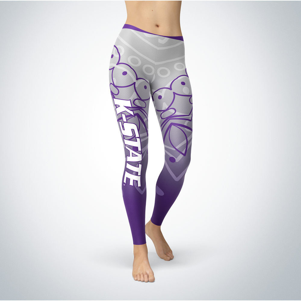 Mandala 2 Design Kansas State Wildcats Leggings Front picture