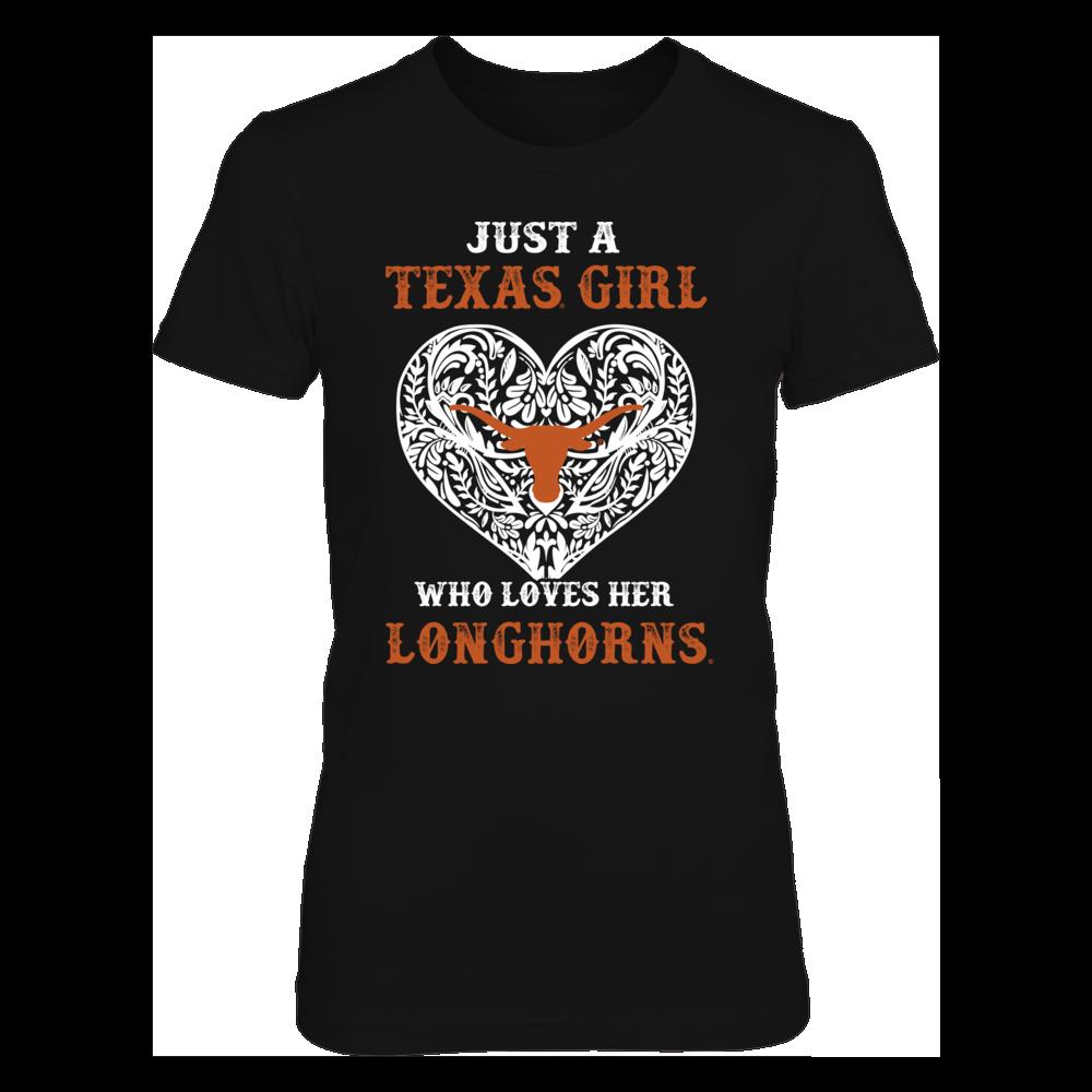 Texas Longhorns - Longhorn Pattern Heart Front picture