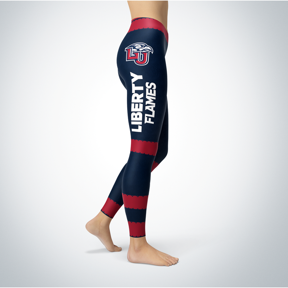 Football Design Liberty Flames Leggings Front picture