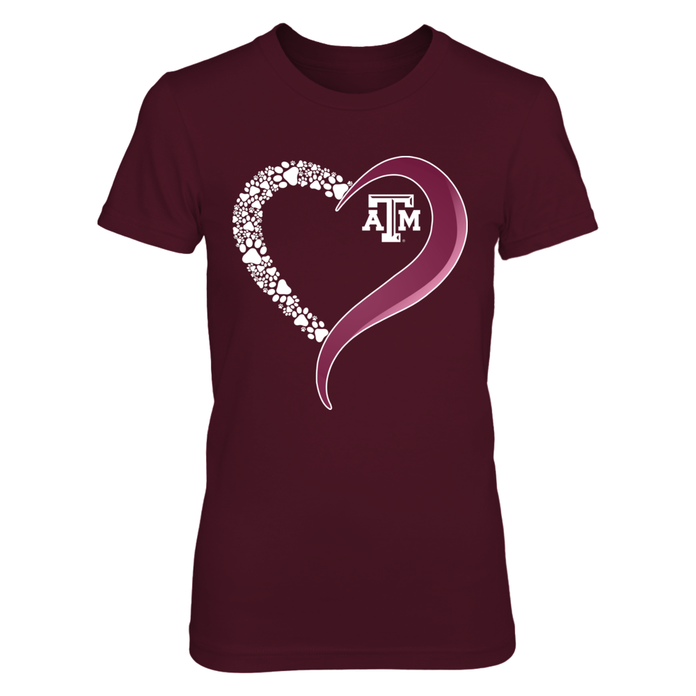 Texas A&M Aggies - Diamond Heart - Paw Front picture