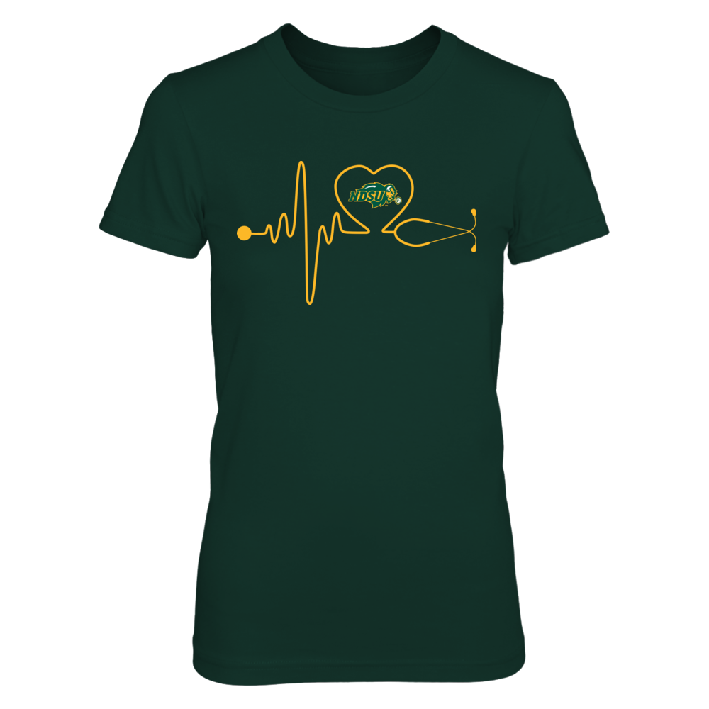 North Dakota State Bison - Nurse - Stethoscope Heartbeat Front picture