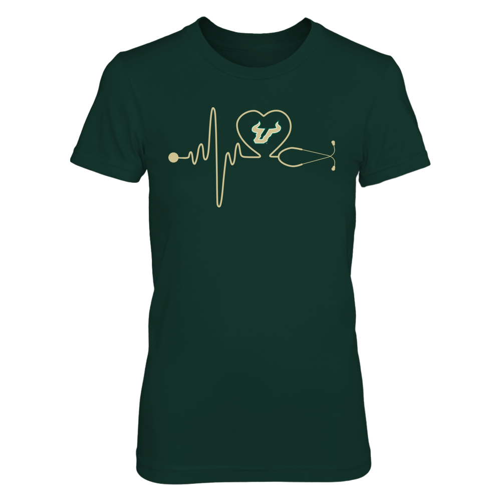 South Florida Bulls - Nurse - Stethoscope Heartbeat Front picture