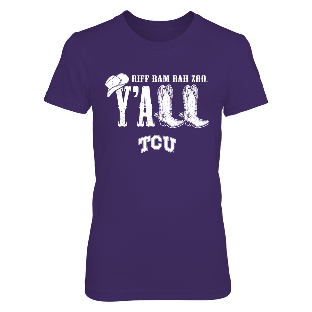 TCU Horned Frogs - Y'all Boots - New Slogan Front picture