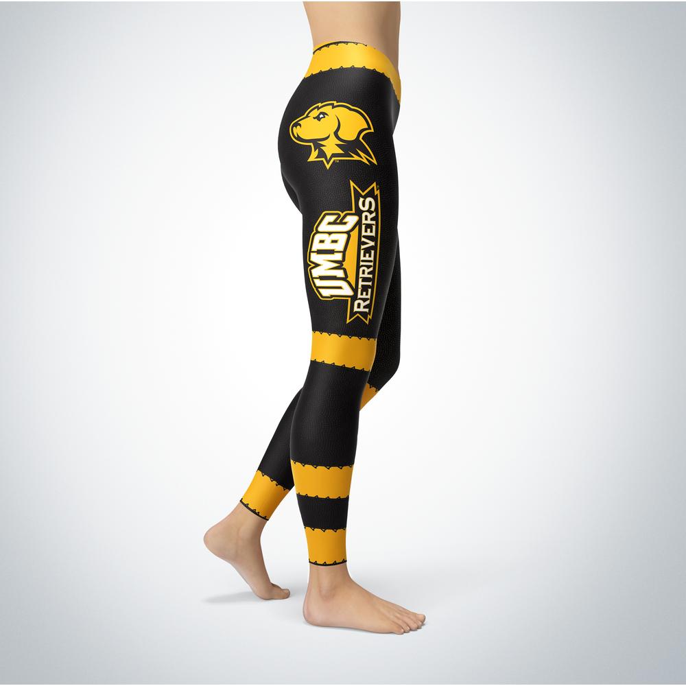 Football Design UMBC Retrievers Leggings Front picture