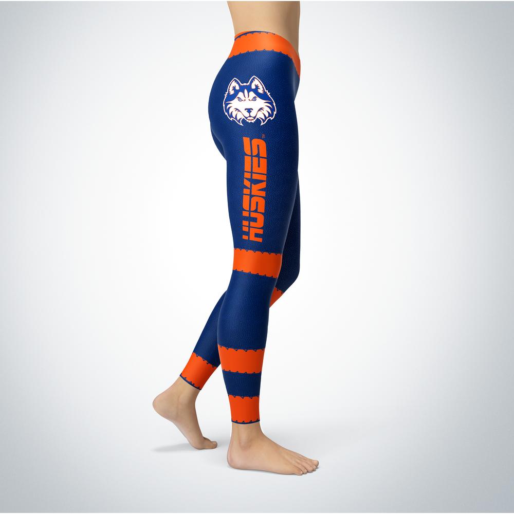 Football Design Houston Baptist Huskies Leggings Front picture