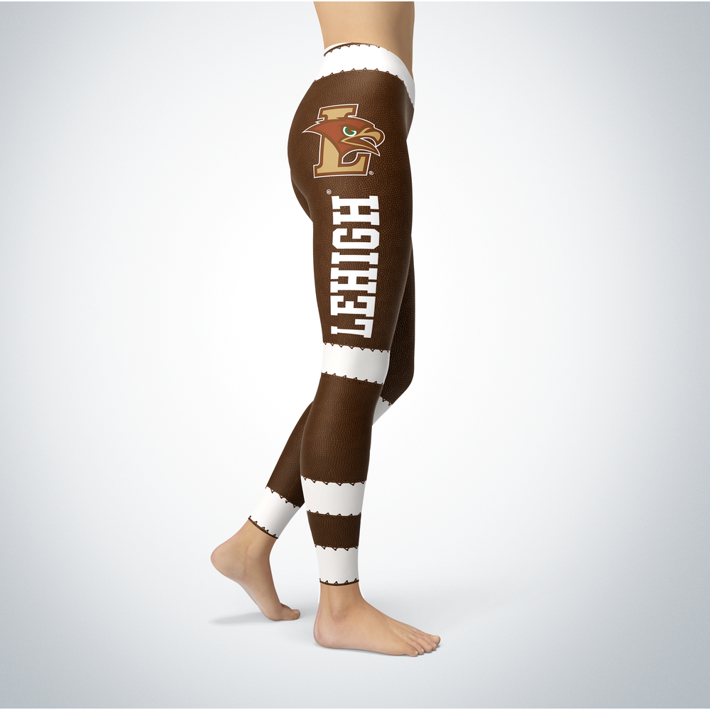 Football Design Lehigh Mountain Hawks Leggings Front picture
