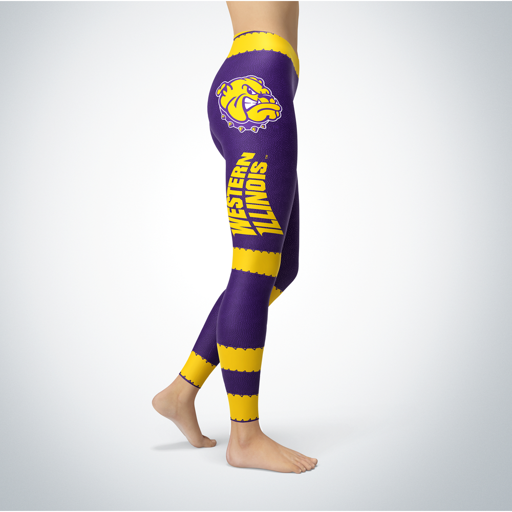 Football Design Western Illinois Leathernecks Leggings Front picture