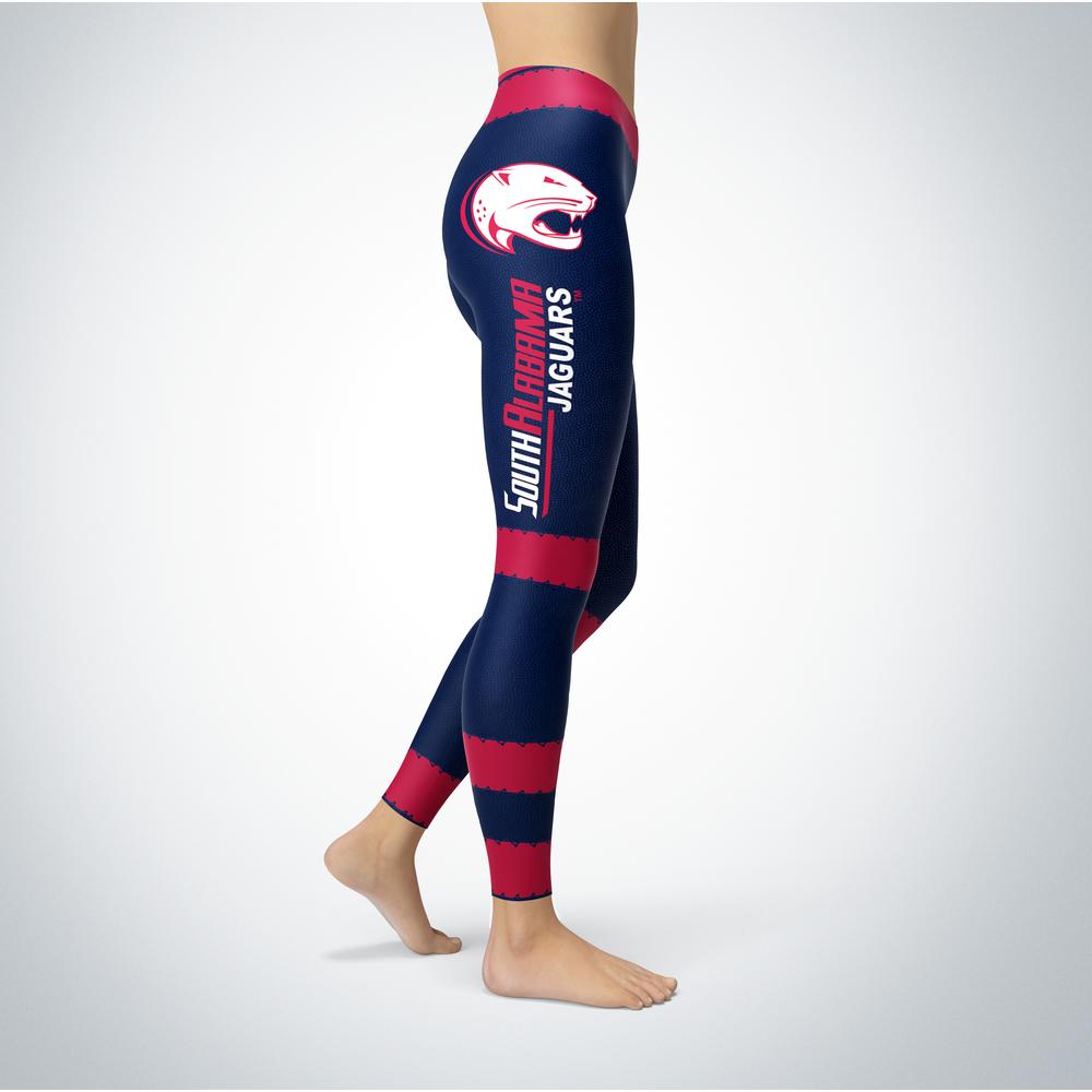 Football Design South Alabama Jaguars Leggings Front picture