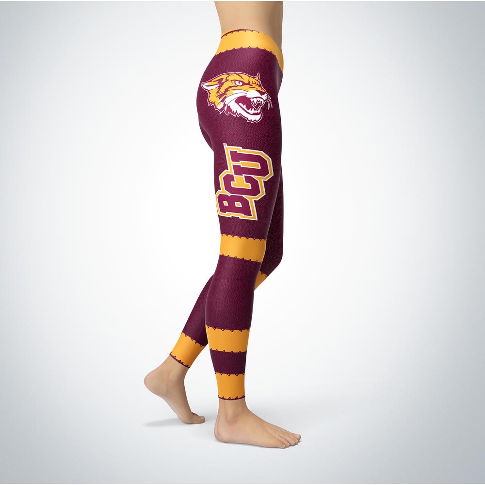 Football Design Bethune-Cookman Wildcats Leggings Front picture