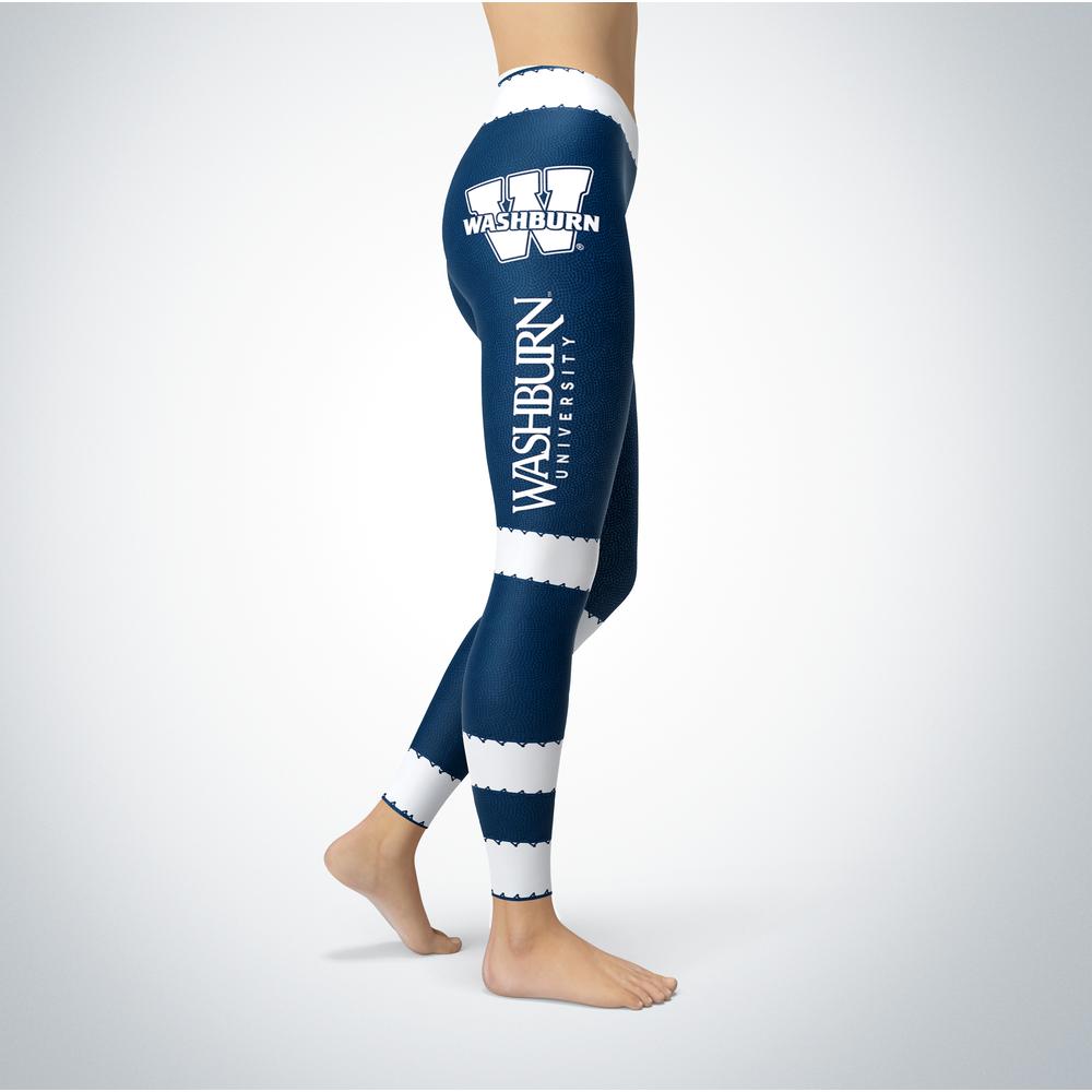 Football Design Washburn Ichabods Leggings Front picture