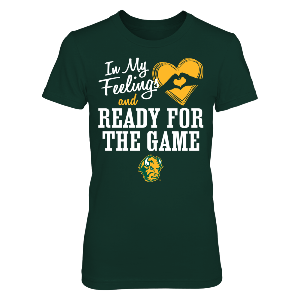 In My Feelings and Ready for the Game North Dakota State Bison T-Shirt | Tank Front picture