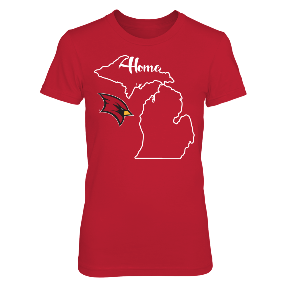 Saginaw Valley State Cardinals - State Outline Front picture