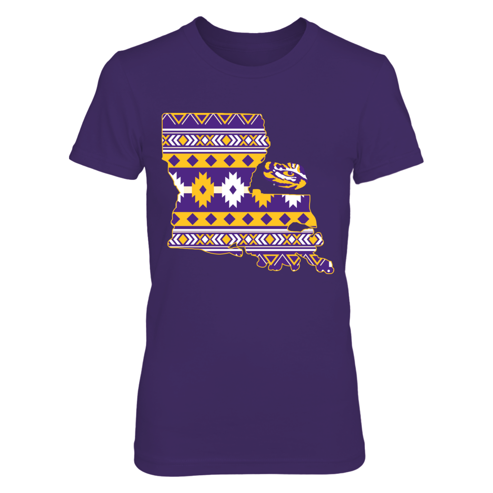 LSU Tigers - Tribal Texas Map - LSU Front picture