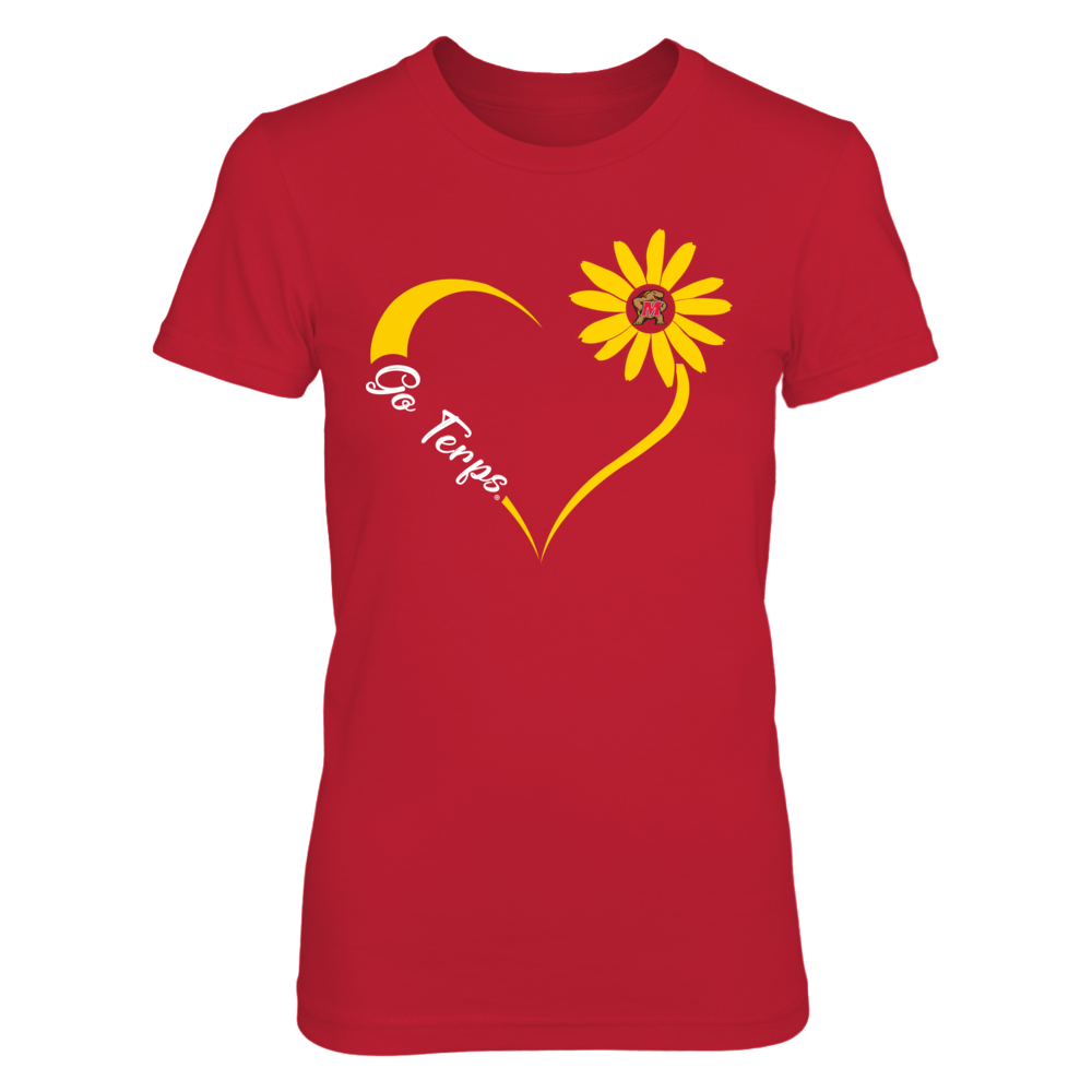 Maryland Terrapins - State Flower Heart Front picture