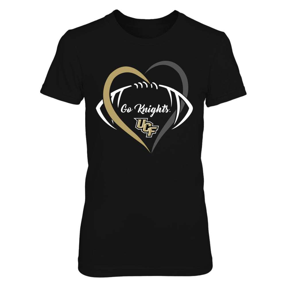 UCF Knights - Half Heart Football Front picture