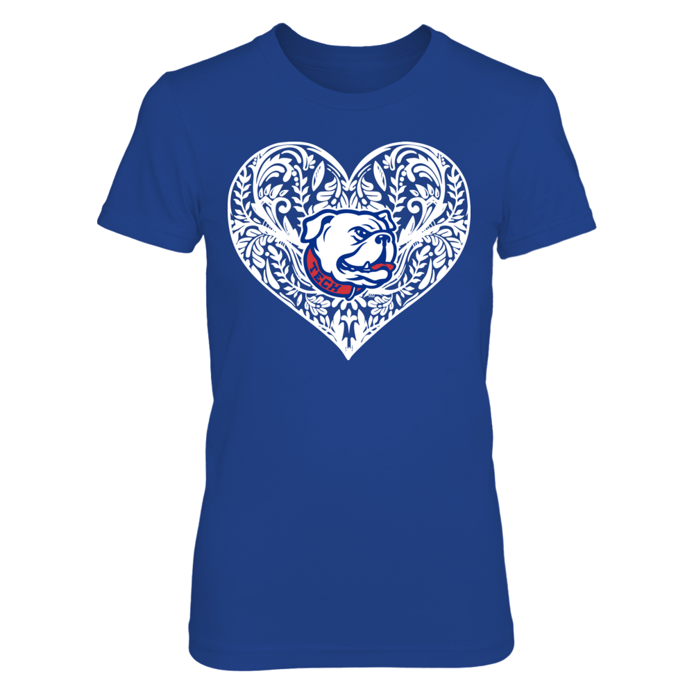 Louisiana Tech Bulldogs - Pattern Heart Front picture