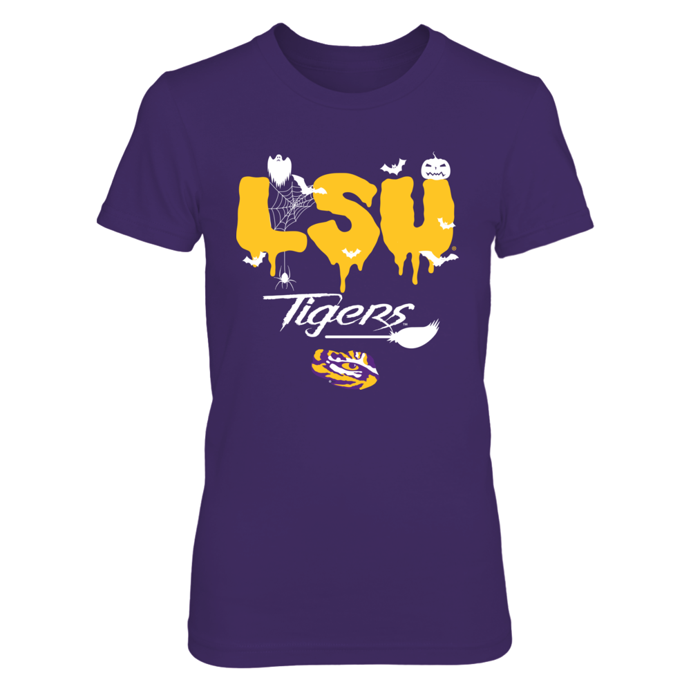 LSU Tigers - Halloween Patterned Letters Front picture